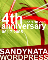 4th anniversary - sandynata.wordpress.com